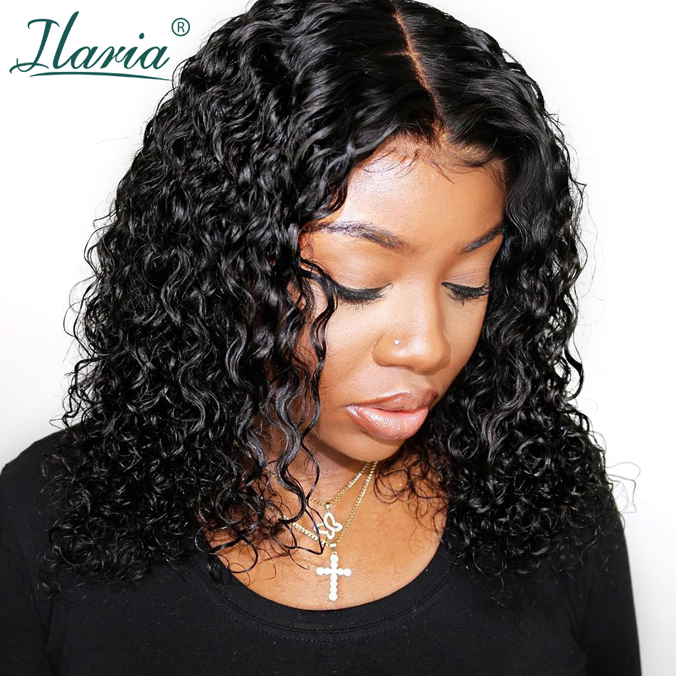 Ilaria Short Jerry Curly Lace Front Human Hair Wigs For Black Women Brazilian Remy Hair Bob