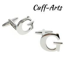 Cufflinks for Men DIY 26 Alphabet Cuff links Personality Choose 2 Different Letters For Initials by Cuffarts C10077