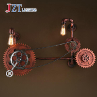 T LOFT Retro Creative Iron Wall Lamps Industrial Water pipe Lighting For Bar Coffee Shop Corridor Fashion Artistical DHL FREE