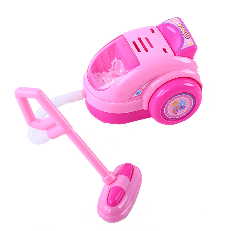 New mini electric vacuum cleaner pink doll furniture for kids party early educational pretend play toys cute dolls accessories