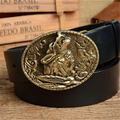 Wolf Belt Buckle Mens Belts Luxury Men Belt Genuine Leather Cowboy Jeans Belt Ceinture Homme Male Strap Cinturones MBT0386