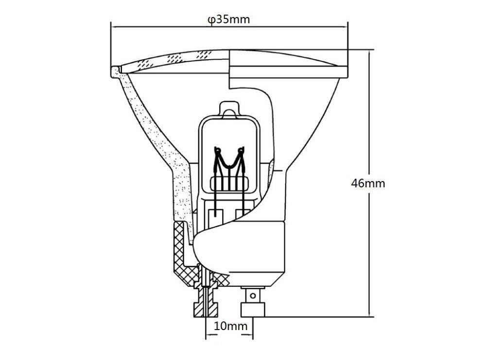 Bulbos de Halogênio honeyfly 3 pçs/lote dimmable 230 Gu10 35w Halogen Lamp : 35w Gu10 Halogen Bulb