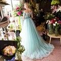100% настоящее лед нью-синий горный хрусталь цветок бисером платье средневековой эпохи возрождения платье королевы викторианской cos / бальное платье / красавица мяч