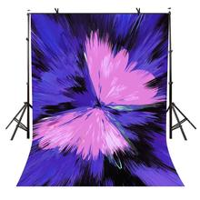 5x7ft Pink Butterfly Backdrop Purple Shading Photography Background and Studio Props