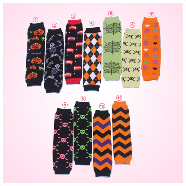 baby halloween series 11 style leg warmer skull pumpkin tooth pattern 12pairlot infant legging socks tights adult arm warmer in leg warmers from mother