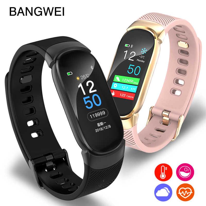 ליגע חכם שעון צבע מסך עמיד למים נשים חכם להקת קצב לב צג חכם צמיד relogio inteligente עבור אנדרואיד IOS