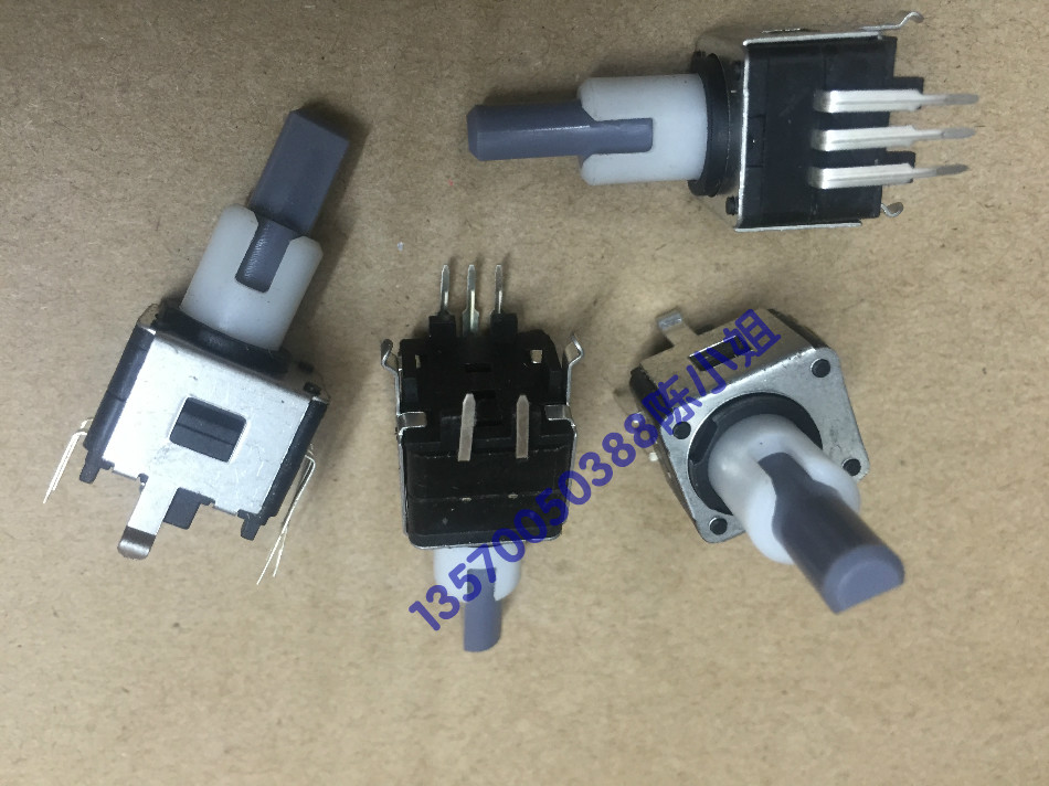 1pcs/lot Korea EC16 double axis encoder with switch 12, positioning number 12, pulse shaft length 22mm double adjustable encoder [bella]genuine imported from japan alps encoder em20b4014a01 40 4 stepping with light switch 1pcs lot