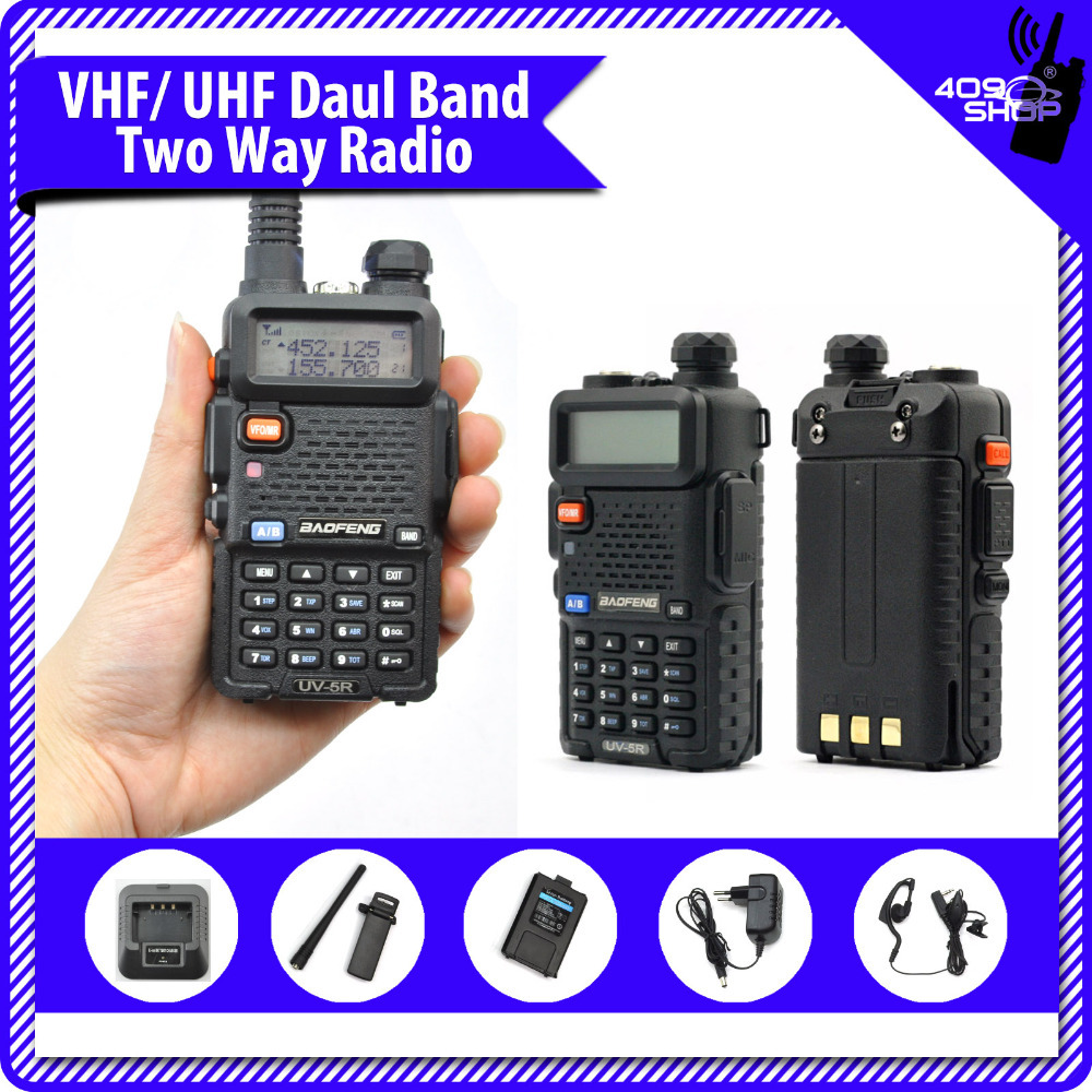 Hot New uv5r walkie dual band radio ham radio hf transceiver