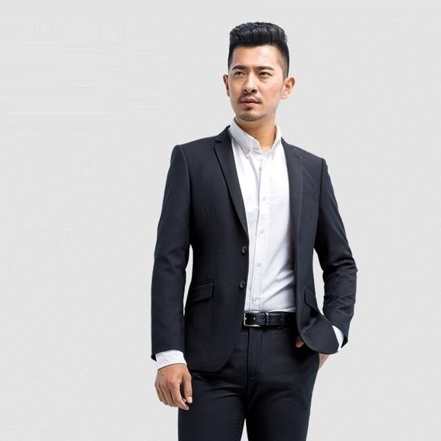 Jaket Americanas Hombre Blazer Veste Tailleur Homme Blaser Masculino Men  Spring Slim Fit Korean Office Long Sleeve Suit Coat c66024b3f7c1