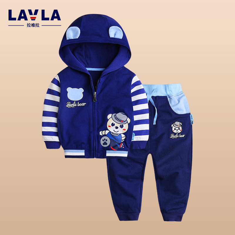 2017  Lavla baby clothing set baby boys girls hoodie clothes spring Autumn cartoon100% cotton sports suit coat pants sets худи boys hoodie