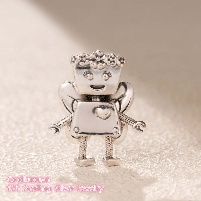 2019 Spring Original 100% 925 Sterling Silver Limited Edition Floral Bella Bot Charm beads Fits Pandora bracelets Jewelry Making-in Beads from Jewelry & Accessories