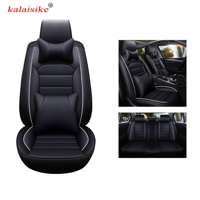 Housses de siège de voiture en cuir universel kalaisike pour Volkswagen tous les modèles VW touareg touran passat polo golf Variant magotan JETTA