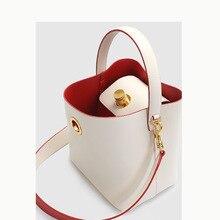 Design Split Leather Bag Large Size Shoulder Hand-held Cowhi