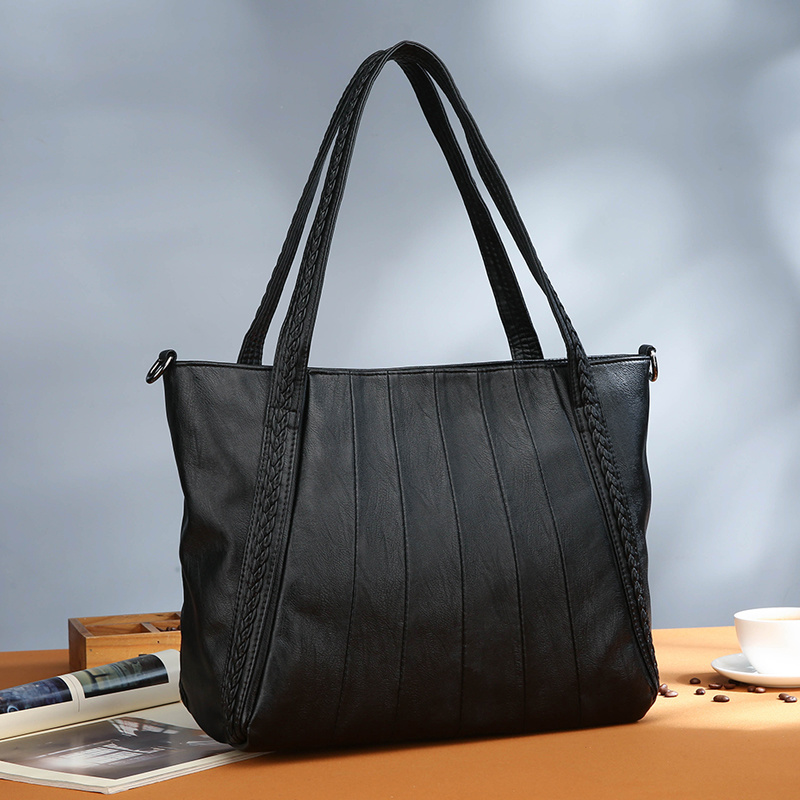 Bags Handbags Women S Tote Shoulder Bag Women Leather Tote Messenger Bag Big Capacity Knitting Crossbody Sac
