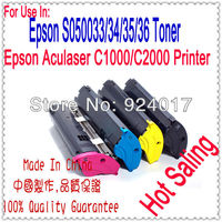 Reset Toner For Epson Aculaser C1000 C2000 Printer,For Epson C13S050036 C13S050035 C13S050034 C13S050033 Color Toner Refill