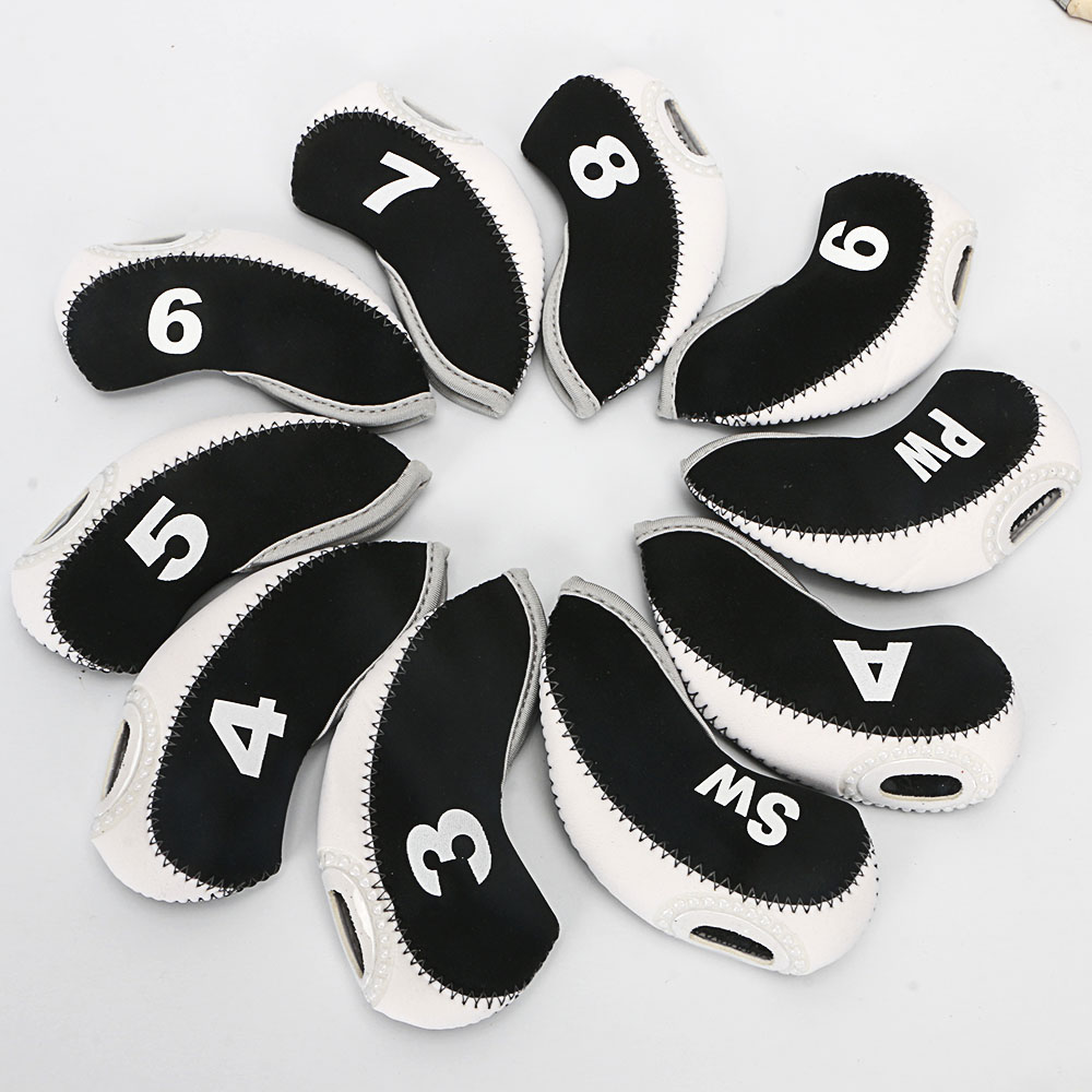Golf Irons Headcover 10pcs Putter Head Protective Cover Golf Club Accessories 12 Colors To Choose