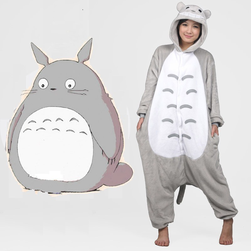 e9e9168627 2018 Totoro pajamas women Onesise for adults Flannel Animal pajamas Totoro  sleepwear femmei mujer Loose Animales Pamajas Hooded-in Pajama Sets from ...