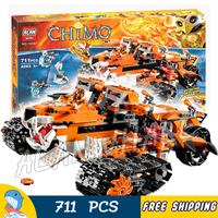 711pcs Tiger's Mobile Command Amazing Tiger Ice Tank 10357 Model Building Blocks Children Toys Boys Bricks Compatible with Lego