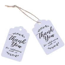 50 шт спасибо ручной работы черно-белая подарочная бумага для надписей Висячие бирки ручной работы с надписью «спасибо» ярлык для рукоделия 3*5 см