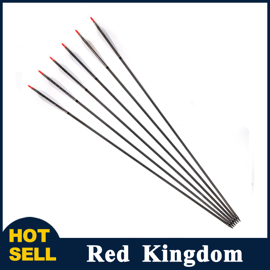 ФОТО 6/12pcs Carbon Arrow Length 30 inch Spine 500 Replaceable Point Turkeys feather Hunting Archery for compound/recurve Bow