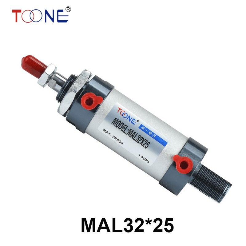 32mm Bore 25mm Stroke Single Rod Air Cylinder MAL32x25