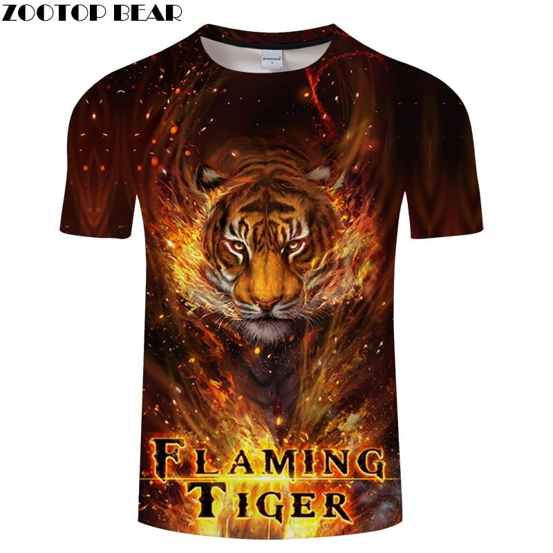Tiger 3D tshirts Men Women t shirt Printed t-shirt Brand Tee Fashion Top Casual Camiseta Summer Streatwear Drop Ship ZOOTOPBEAR