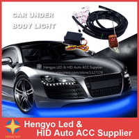 Free Shipment 60CM 90CM 4pcs RGB Under Underbody Car Glow Flexible Led Strip Light Kit Neon