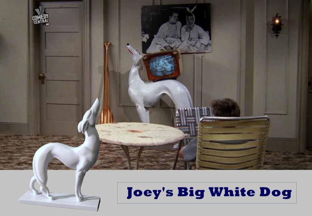 New Friends Joey Big white dog Resin Desk Decoration Car Decoration