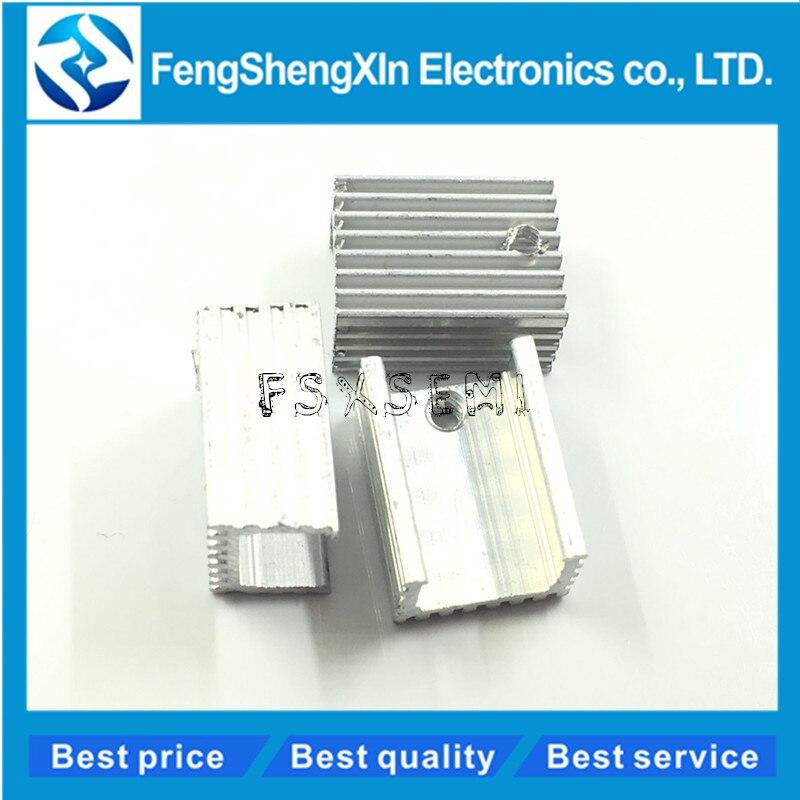 10 шт./лот TO-220 радиаторы 20*15*10 мм триодный радиатор высота отверстия: около 18 мм радиатор