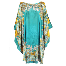 Сексуальный женский шелковый халат из вискозы, банное платье, ночная рубашка, летнее повседневное домашнее платье, с принтом, свободная Пижама размера плюс, ночная рубашка