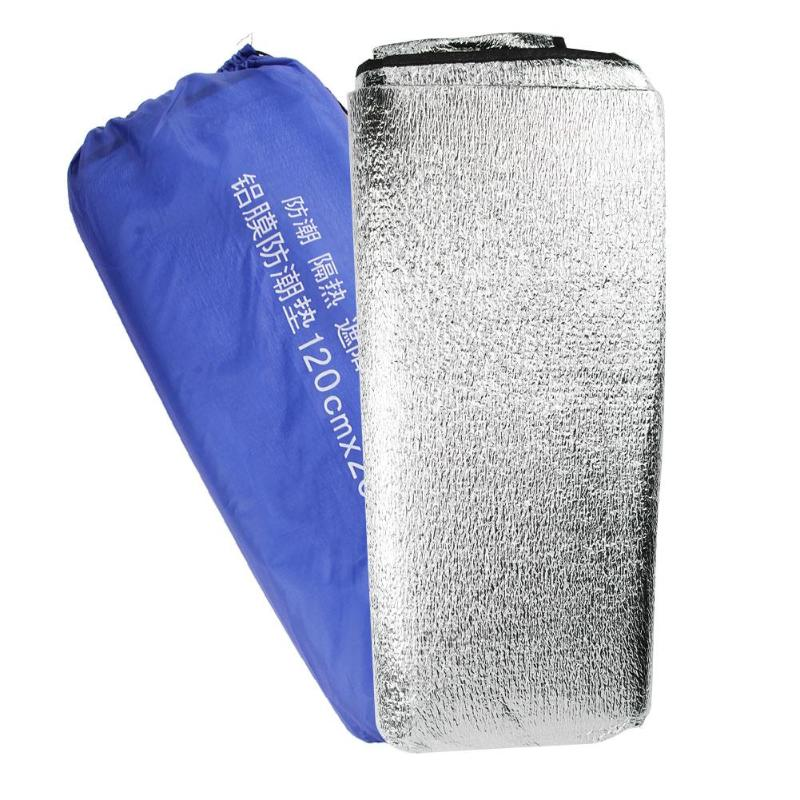 Silver Aluminum Foil EVA Mat Sleeping Picnic Beach Sandbeach Mattress Outdoor Camping Pad Waterproof Accessaries 1.2x2m