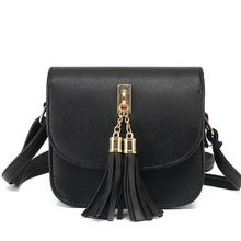 Fashion 2017 Small Chains Bag Women Candy Color Tassel Messenger Bags Female Handbag Shoulder Bag Women Bag  F40-845