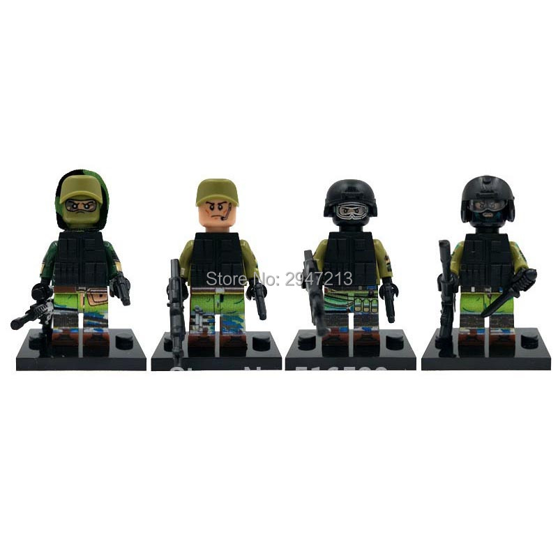 4 PZ hot decool compatible LegoINGlys mini Military war figures Russian special forces with weapons guns Building blocks toys 433mhz alarm accessory wireless pet friendly pir sensor outdoor pet immune infrared motion detector for home wifi gsm alarm g90b
