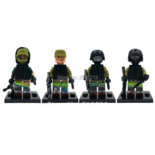 four PZ sizzling decool suitable LegoINGlys mini Military battle figures Russian particular forces with weapons weapons Building blocks toys
