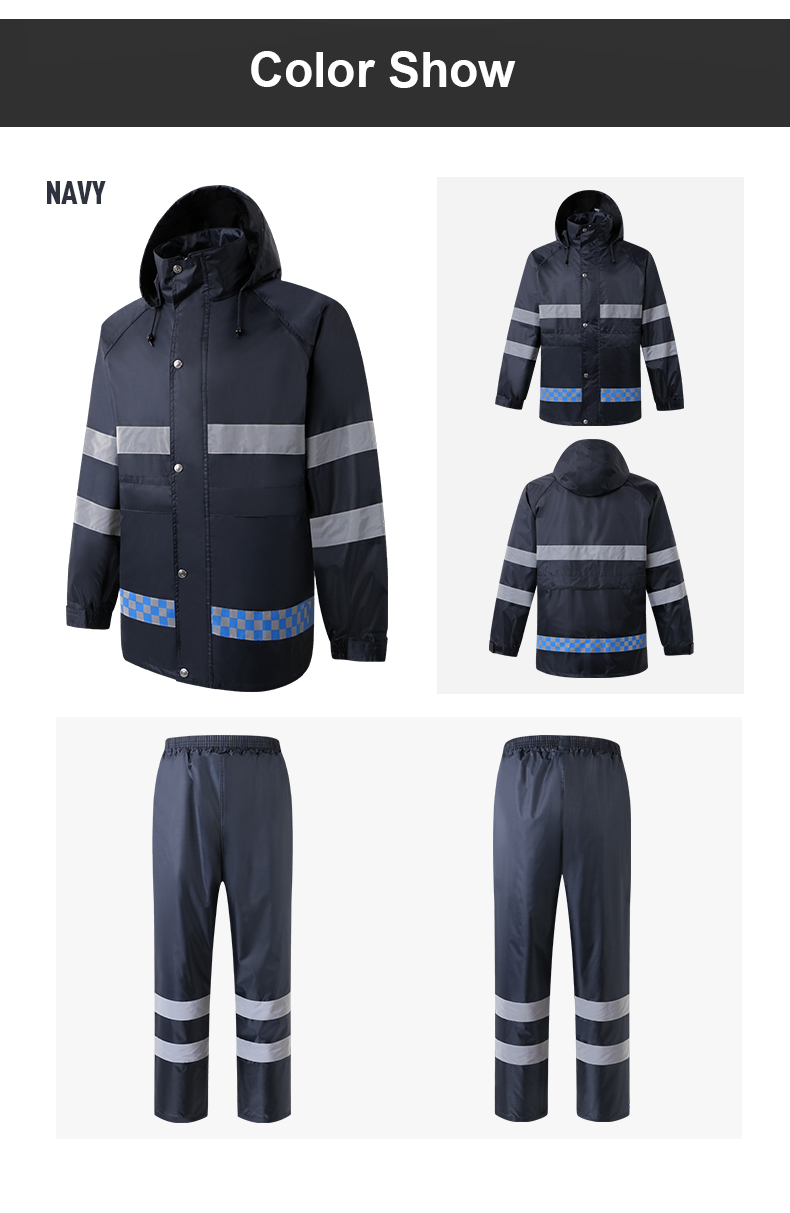 calças de chuva trabalho wear men com listras reflexivas