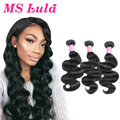 Ms Lula Hair Brazilian Body Wave Human Hair 3pcs Mink Brazilian hair weave bundles Brazilian Virgin Hair Body Wave