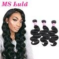 Ms lula cabelo onda do corpo brasileiro do cabelo humano 3 pcs pacotes tecer cabelo brasileiro mink brasileira onda do corpo do cabelo virgem