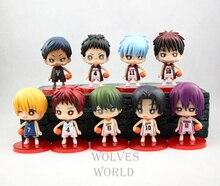 9pcs/set Kuroko's Basketball Anime mini Action Figures PVC brinquedos Collection Figures toys for christmas gift with Retail box