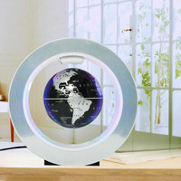 English 22CM frame World Map Novelty Magnetic Levitation Floating Globe Tellurion With LED Light Home Decoration Office Ornament