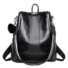 d724733c20 Fille Boules de Poils En Cuir cartable Hit Sac À Dos Satchel sac à dos  bandoulière de voyage sac à dos de promenade décontracté .