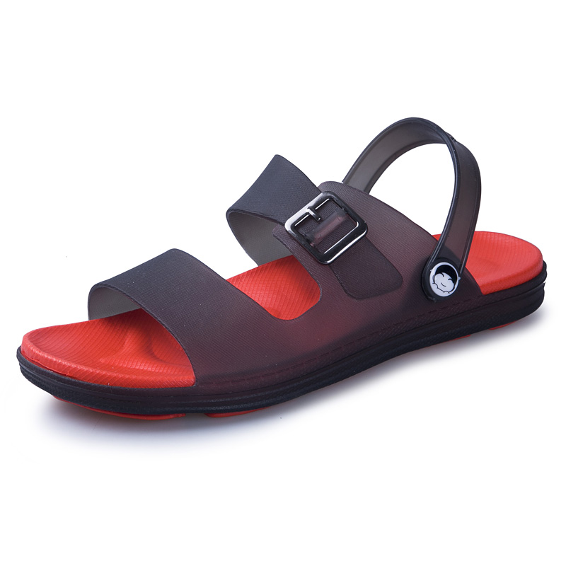 PUPUDA Flat Sandals Men Summer Classic Beach Shoes Lightweight Slippers Men 2019 Fashion Jelly Sandals Summer Male Plus Size