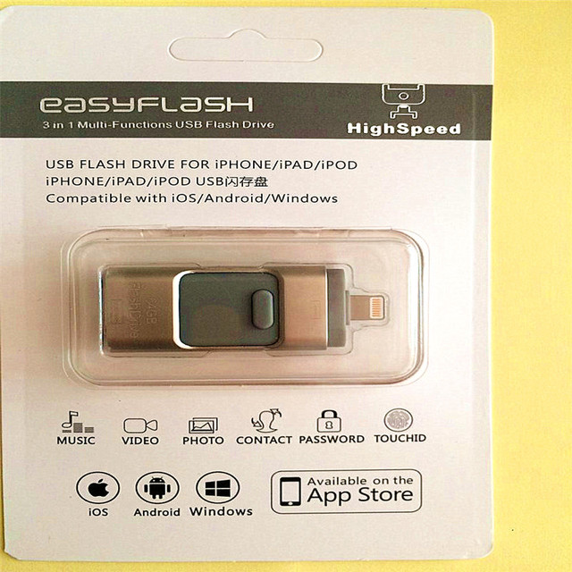 New i-Flash Driver HD U-disk Lightning data for iPhone/iPad/iPod,micro usb interface flash drive for PC/MAC 8G/16G/32G/64G