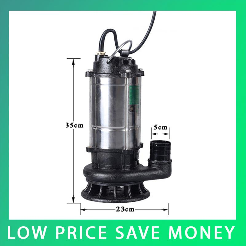 лучшая цена Submersible Dirty Water Pumps 750W/1100W Submersible Pump Waste Water Pump