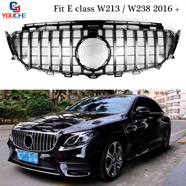 W213 W238 Gt R Style Front Per Grills Replacement Grille For Mercedes E Sedan