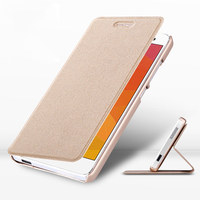 Luxury PU Leather Flip Case Cover For Xiaomi Mi4 Case Ultra Thin Magnetic Stand Coque Fundas
