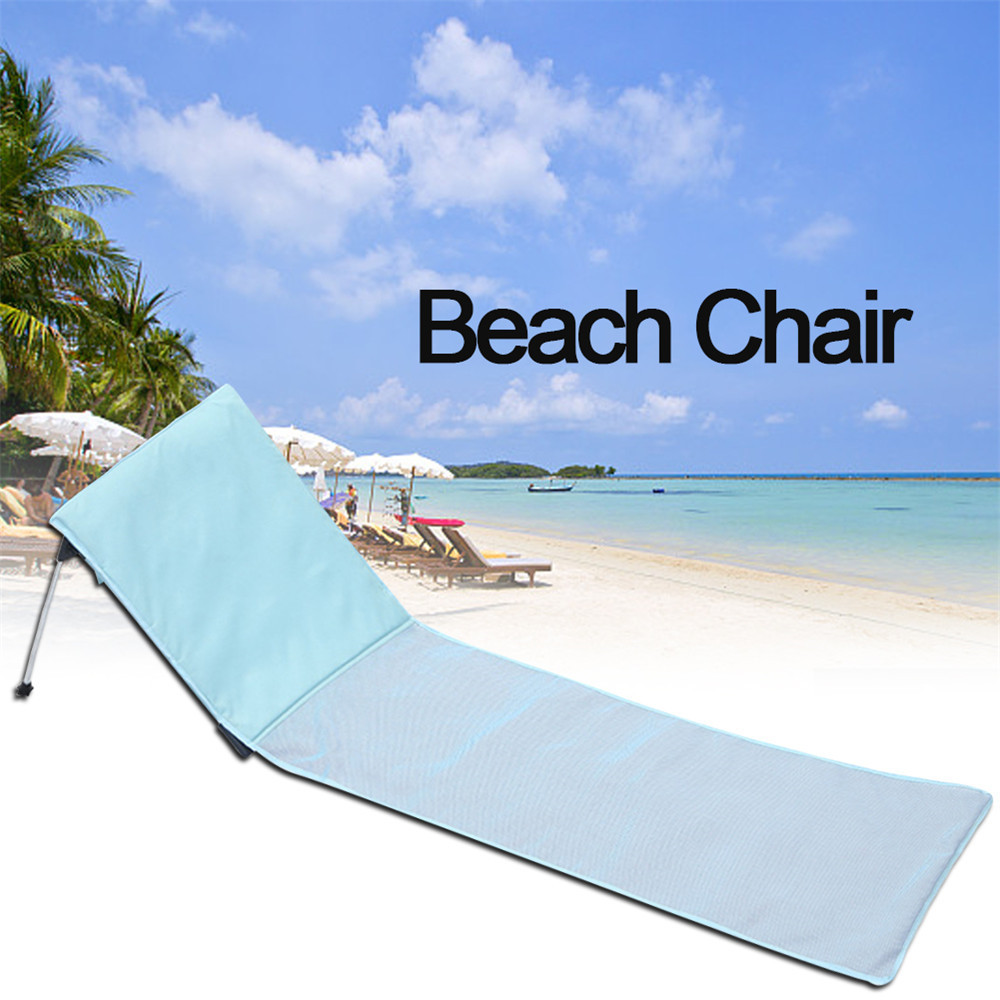 Portable Folding Beach Chairs Foldable Deck Chair Aluminum Single Recliner Sofa With Cushion Chaise Lounge Outdoor Furniture