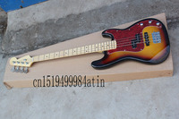 Free Shipping New Custom Guitar F Precision Bass Guitar 4 Strings natural Wood Bass Electric Guitar in stock