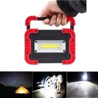 Portable Camping Lights COB LED Work Light Floodlight Flashlight Spotlight Searchlight USB Rechargeable Power Bank Lamp