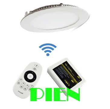 9W 12W 2.4G smart led panel milight color temperature adjustable +4 zone RF remote+wifi controller 85-265V by DHL 10pcs