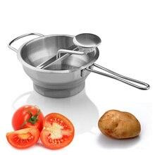Кухонные инструменты для фруктов и овощей, ручная пищевая мельница из нержавеющей стали, пюре, пюре, давилка для картофеля, рисеры
